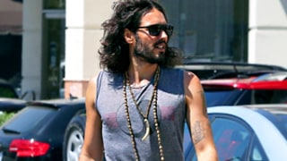 Russell Brand Goes Commando in Baggy, Printed Pants? Picture