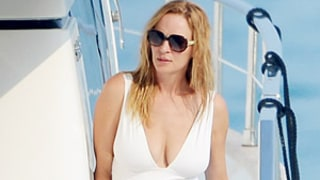 Uma Thurman and Arpad Busson, in Swimsuits, Make Out on Yacht