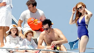 Isla Fisher, Sacha Baron Cohen Show Off Beach Bodies on Vacation With Daughters: Picture
