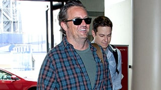 Matthew Perry Sports Fuller Figure, Big Grin at LAX: Picture