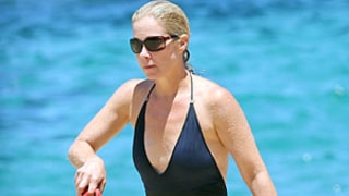 Christina Applegate Rocks Swimsuit With Plunging Neckline in Hawaii