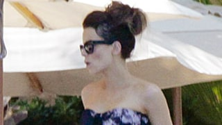 Kate Beckinsale Hits the Pool in a Bandeau Bikini While Vacationing in Mexico