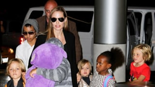 Angelina Jolie, All Six Kids Fly to Australia from L.A.: Pictures