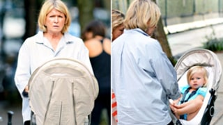 Martha Stewart Pushes Adorable Granddaughter in Stroller: Pictures