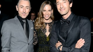 Alan Cumming, Hilary Swank and Adrien Brody