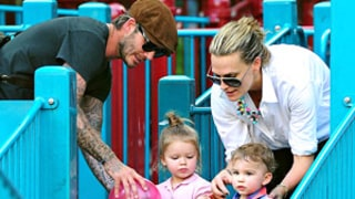Harper Beckham, Dad David Have Play Date With Molly Sims and Son Brooks: Pictures