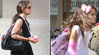 Suri Cruise Wears New Pink Arm Cast With