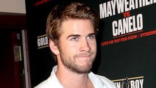 Liam Hemsworth Steps Out Solo for Floyd Mayfeather Vs. Canelo Alvarez Las Vegas Fight