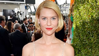 Claire Danes Rocks Short Faux Bob Hairstyle, Plunging Neckline at 2013 Emmys