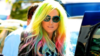 Ke$ha Debuts New Rainbow-Colored Hair: Picture