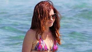 Alyson Hannigan Wows in Pink String Bikini in Hawaii