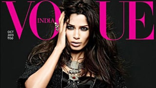 Freida Pinto Gets Super-Sexy Makeover for Vogue India Cover, Wears Bustier and Hot Shorts