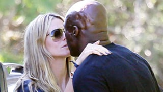Heidi Klum, Seal Share Friendly Kiss 18 Months After Filing for Divorce: Picture