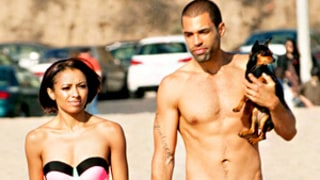 Kat Graham Shows Slim Bikini Body on Beach, Makes Out With Fiance Cottrell Giudry