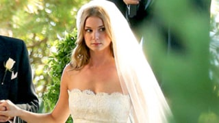 Emily VanCamp Wows in a Wedding Dress on the Revenge Set With Gabriel Mann: Picture