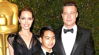 Brad Pitt Shows Off New Hairstyle With Angelina Jolie, Grown Up Looking Maddox at Governors Awards: Pictures