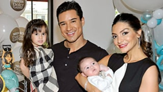 Mario Lopez, Wife Courtney Introduce Son Dominic At Party -- First Photo