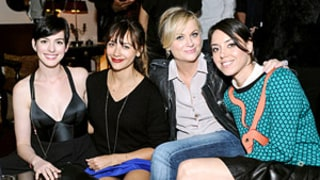 Anne Hathaway, Rashida Jones and Amy Poehler Go Out To Dinner In LA