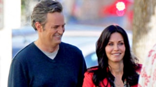 Courteney Cox, Matthew Perry, Former Friends Costars, Reunite On Cougar Town Set: Picture