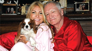 Hugh Hefner, Crystal Harris Wear Pajamas on 2013 Christmas Card: See the Picture!