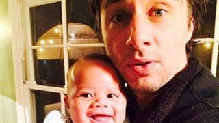 Zach Braff Shares Adorable Photo With Godson Rocco, Donald Faison and CaCee Cobb's Baby