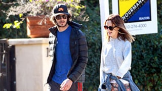 Leighton Meester Hides Ring Finger on Walk With Fiance Adam Brody: Picture