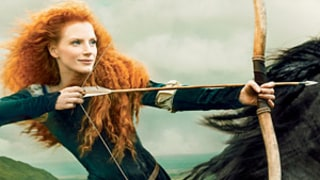 Jessica Chastain Dresses Up As Brave's Princess Merida For Disney Campaign: Picture