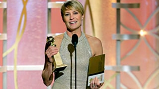 Robin Wright Suffers Wardrobe Malfunction, Flashes Pasty During 2014 Golden Globes Acceptance Speech