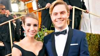 Emma Roberts, Evan Peters Awkwardly Make Out at Golden Globes After Party, Aunt Julia Roberts Meets Fiance For First Time