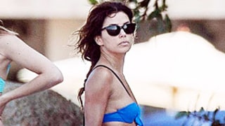 Eva Longoria Bares Her Body in Tiny Blue Bikini in Mexico: See the Pictures