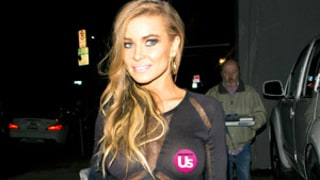 Carmen Electra Flashes Chest, Goes Bra-Less in See-Through Dress While on Dinner Date With Blink 182's Travis Barker: Picture
