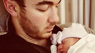 Kevin Jonas Cradles First Child, Baby Girl Alena Rose in First Father-Daughter Photo