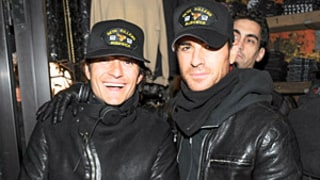 Justin Theroux Parties With Orlando Bloom on Jennifer Aniston's 45th Birthday: Picture