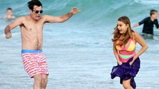 Modern Family Cast Hits Australia Beach: Sofia Vergara Shows Curves in Monokini, Ty Burrell Goes Shirtless