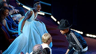 Pharrell Williams Dances With Lupita Nyong'o, Meryl Streep, Amy Adams During