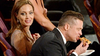 Celebs Chow on Pizza at 2014 Oscars, Angelina Jolie Misses Out: See the Hilarious Pictures, GIF