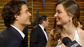 Orlando Bloom Interrupts Ex Miranda Kerr During Oscars After Party Interview: Picture