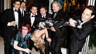 Amy Poehler Gets Flipped Upside Down by Paul Rudd, Bill Murray, Bill Hader in Awesome Oscars Party Picture