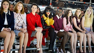 Lupita Nyong'o, Rihanna, Margot Robbie, and More Ham It Up on Front Row at Miu Miu Fashion Show