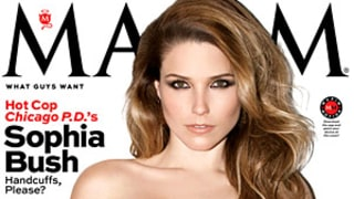 Sophia Bush Smolders in Mesh Corset on Maxim Cover: