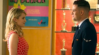 Glee 100th Episode: Quinn and Puck Kiss, Santana and Brittany Reunite
