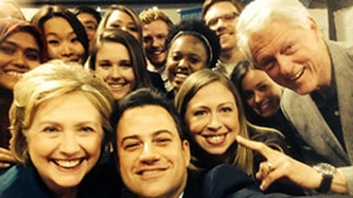 Jimmy Kimmel Takes Selfie With Bill, Hillary, Chelsea Clinton: Picture