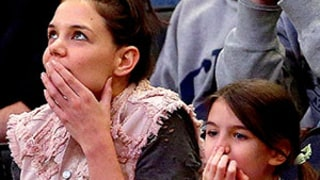 Suri Cruise, Katie Holmes Look More Alike Than Ever, Make Identical Gestures at Basketball Game: Pictures
