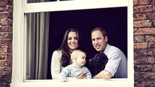Kate Middleton, Prince William, and Prince George's Window Photo Echoes Past Royal Portraits: Pictures