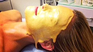 Bar Refaeli Gets a Liquid Gold Facial: See the Crazy Picture