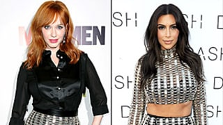 Christina Hendricks vs Kim Kardashian: Who Wore the Chain Mail Skirt Best?