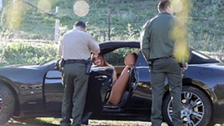 Brooke Burke-Charvet Crashes Maserati, Says She Was Sober