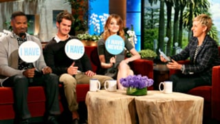 Emma Stone, Andrew Garfield Squirm About Sexting, Sharing Rooms During Spider-Man Promotional Tour