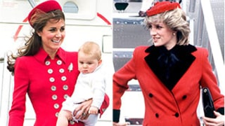 Kate Middleton's Red Coat Echoes Princess Diana's Style From 30 Years Ago: See the Side-by-Side Pictures