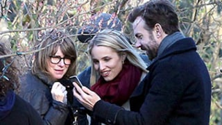 Jason Sudeikis Caught Showing Off Baby Otis Photos to Co-Star Dianna Agron